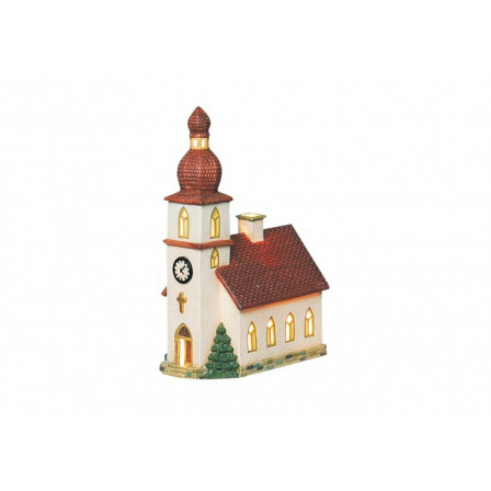 Porcelánový kostol 14x8x21cm