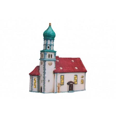 Kostol s červenou strechou 19x12x24cm