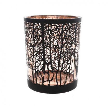 Sklenená svietidlo strom 10x12,5cm