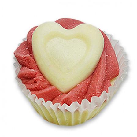 Torta do koupele- Cupcake 45g biele srdce