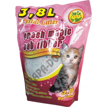 Fine crystal cat litter