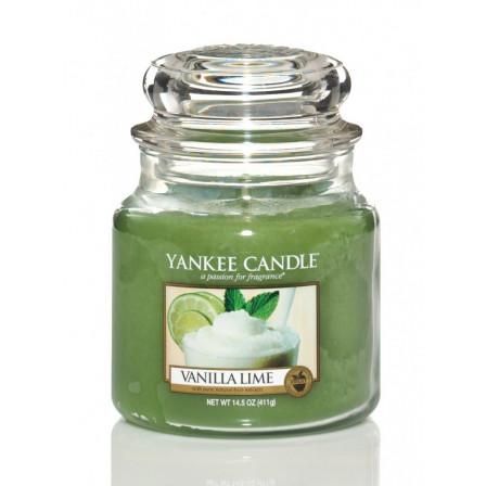 YANKEE CANDLE Classic stredná - Vanilla Lime 411g