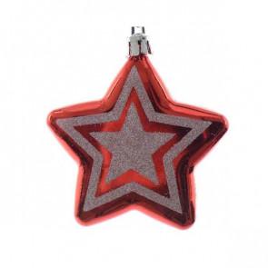 Vánoční ozdoba hvězda 2ks