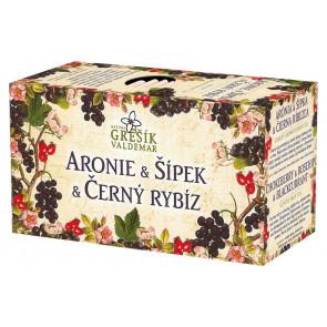 Aronie & Šípek & Černý rybíz - ovocný čaj