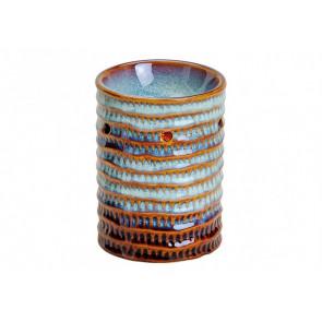 Aromalampa keramická modro-hnědá