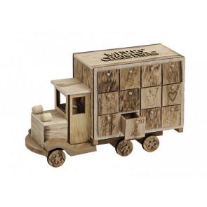 Adventný kalendár nákladiak drevený 29x10x19cm