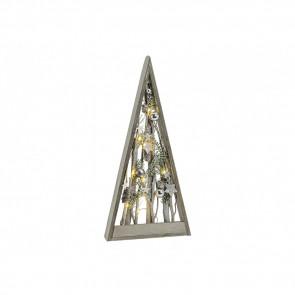 Drevená svietiace pyramída 26x5x55cm GWU