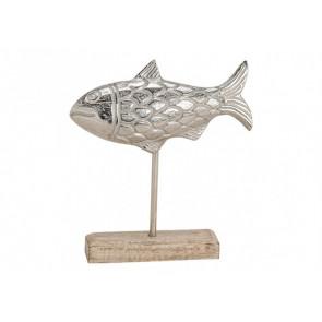 Dekorácie ryba na podstavci 22x20x5 cm