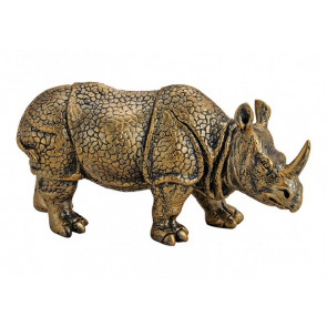 Nosorožec zlatý Polyresin 22x12x8cm