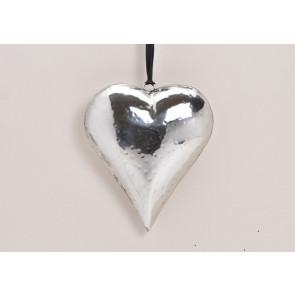 Záves srdce z kovu 14x15x4 cm