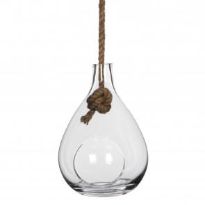 Závesná sklenená váza Sil