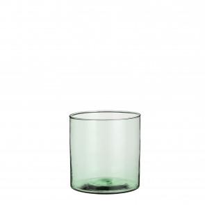 Sklenená váza Anabella zelená 19x19cm