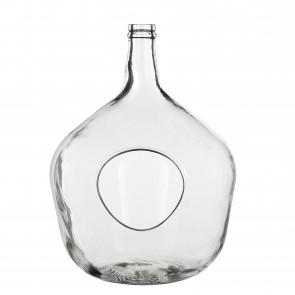 Fľaša sklenená s otvorom z boku 43x31cm
