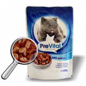 Kapsička PreVital Cat losos 100g