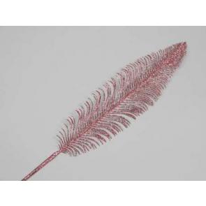 Dekorácie perie, 56cm, perleť, 1 ks