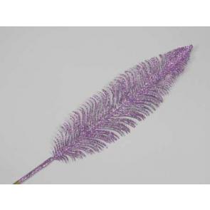 Dekorácie perie, 56cm, fialová, 1 ks