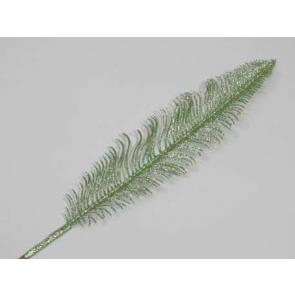 Dekorácie perie, 56cm, zelená, 1 ks