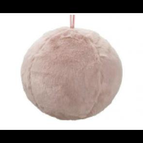 Dekorácie guľa látková ružová 13cm