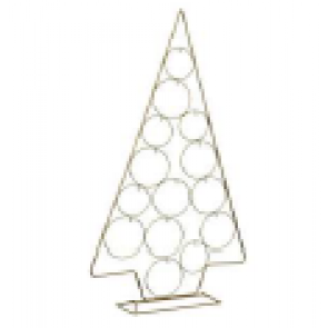 Dekorácia strom metalový zlatý 74cm