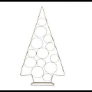 Dekorácia strom metalový zlatý 53x100cm