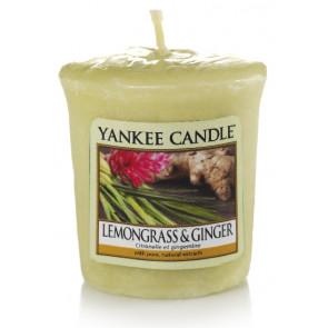 YANKEE CANDLE votívna sviečka - Lemongrass & Ginger 50g
