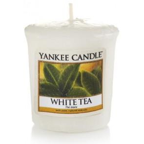 YANKEE CANDLE votívna sviečka - White Tea 50g