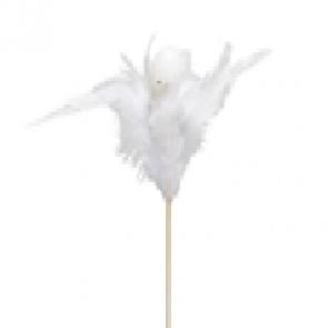Vajíčko zápich s perím bielej