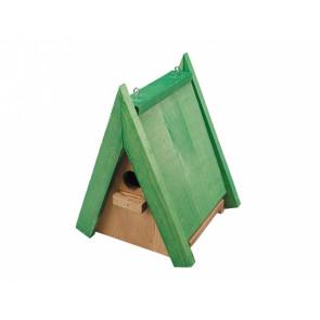 Budka ŠPAČKOVNÍK č.3 dřevěná zelená 24x18,5x16,5cm