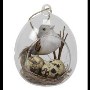 Sklenené vajíčko na zavesenie