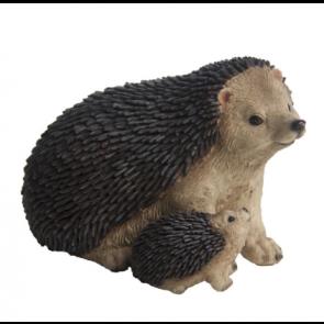Polyresin Ježek s malým ježka 11x16x11cm