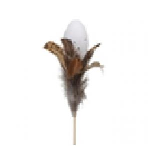 Vajíčko zápich s perím prírodnou
