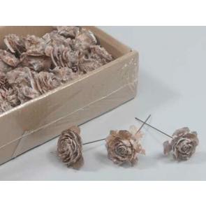 Céder šiška na drôtiku biela 10cm