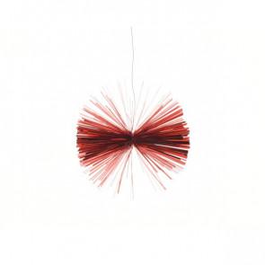 Vánoční ozdoba z lamel červená