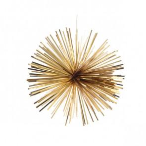 Vánoční ozdoba z lamel zlatá 20cm