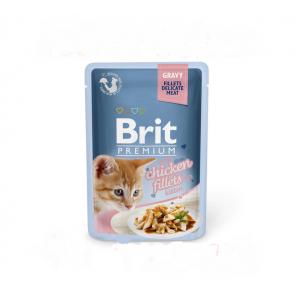 Brit Premium Cat filety s kuraťom v šťave 85g pre mačiatka