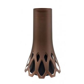 Váza Roseta 1 l se zátěží bronz, výška 30 cm