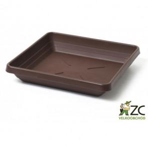 Miska čtyřhraná Lotos 35x35cm čokoládová