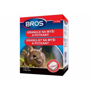 BROS granule na myši a potkany 7x20g