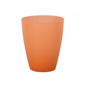 Obal na květník ORCHIDEA LAKY plast, oranžový, 12x15cm
