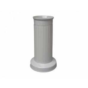 Váza hřbitovní SLOUP d12x22h/těžká šedá