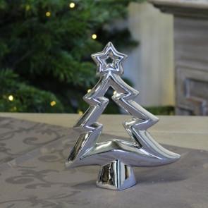 Stromček s hviezdami 17x4x18cm strieborná