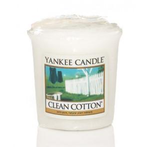 YANKEE CANDLE votívna sviečka - Clean Cotton 50g