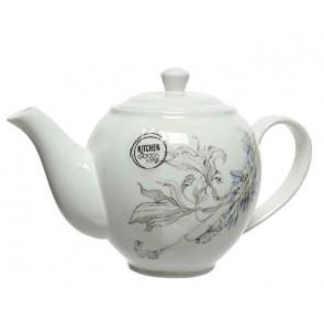 Čajová porcelánová konvička s kvetinovým motívom
