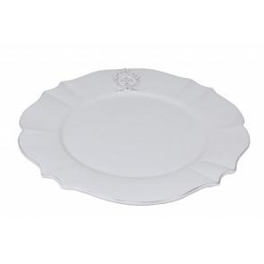 Dezertní talíř bílý, erb