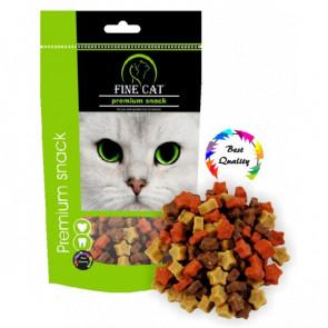FINE CAT občerstvenie hviezdičky mix 100g