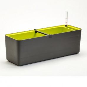 Truhlík samozavlažovací Berberis 60cm antracit + zelená