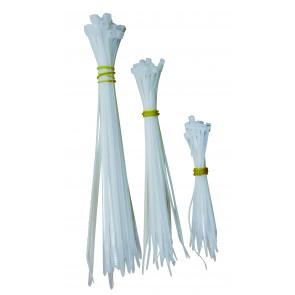 Káblové pásky bílá 100, 150, 190mm á 25 ks