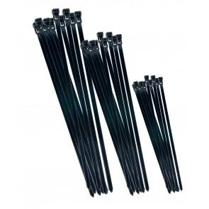 Káblové pásky set černé