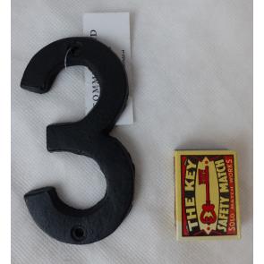 Domové číslo liatinové čierne - 3