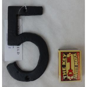 Domové číslo liatinové čierne - 5